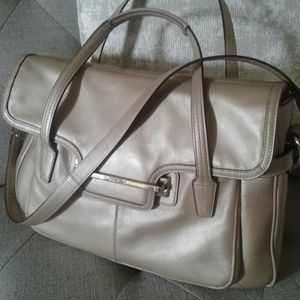 COACH Large Taylor Leather Satchel Shoulder Bag